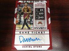 2020-21 Contenders Daniel Oturu AUTO Game Ticket #81 RC-CLIPPERS