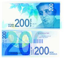 Two hundred Shekels Bank of Israel New 200 Sheqalim Paper Acting Bill