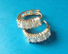 18k Oro Giallo Diamante Orecchini a cerchio 245