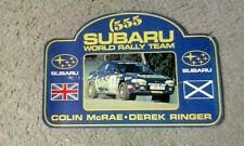 Colin McRae-Derek Ringer SUBARU RALLY EQUIPO Pegatina 555