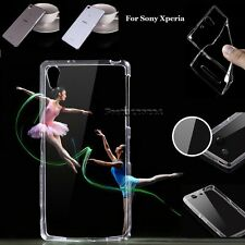 For Sony Slim Ultra Thin Transparent Crystal Clear Soft TPU Case Skin Cover Back