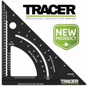 """TRACER 300mm 12"""" SPEED SQUARE ROOFING RAFTER ANGLE (like 46-053 Stanley ) APS12"""