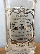 "BELLA LUX "" PARFUMERIE EAU DE TOILETTE"" APOTHECARY GLASS TOOTHBRUSH HOLDER NEW"