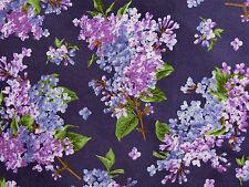 Patchworkstoffe Flieder Blüten Fliedersträuße lila purpur lavendel 30x1,12 BW