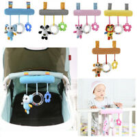 Cuddly Animals Newborn Baby Cot Pram Bed Activity Plush Toys Rattles Shower Gift