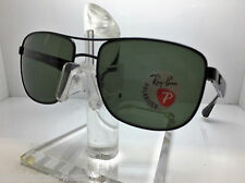 AUTHENTIC RAYBAN  RB 3533 002/9A BLACK/GREEN POLARIZED LENS 57MM