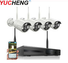 Wireless 1080p Home Security System CCTV WIFI IP Camera NVR KIT Outdoor H.265