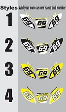 Graphics for 2003-2008 Suzuki RM125 250 RM 125 250 Number Plates Side PanelDecal