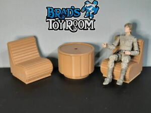Custom STAR WARS Mos Eisley Cantina Table 2 Chairs for 6 Inch Figures Diorama