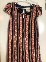 Modcloth Dress Shared Sentiment Multicolored Rope Shift Keyhole Size Small New