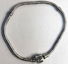 "Authentic Pandora .925 Sterling 5.5"" Silver Charm Bracelet"