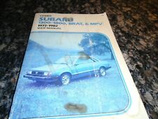 Vintage Clymer Subaru Brat and Mpv Shop Manual 1972-1982 used in shop