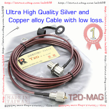Silver Plated RETECH T2D-6MAG Car Mobile Coaxial Cable SO239 PL259 Antenna Mount