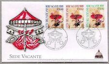 2005 FDC Sede Vacante - Annullo Primo Giorno su Serie Completa - RARA Vaticano