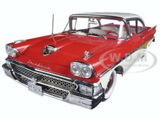 1958 FORD FAIRLANE 500 HARD TOP RED/WHITE 1/18 PLATINUM SERIES BY SUNSTAR 5274