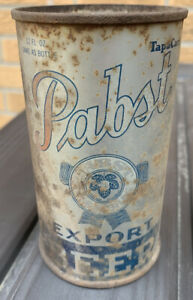 Pabst Export Beer  - Tapacan - Vintage steel can  - Rusted Keg lined
