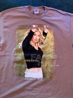 Vintage 90s Faith Hill Concert T-shirt Tee Men's Sz XL Country Rock VTG 2 sided