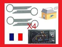 x4 clés d'extraction de démontage façade autoradio AUDI A2, A3, A4, A6, A8,TT