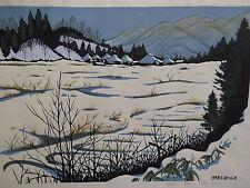 ''Snowfield'' by Sosaku Hanga artist Mitshukiro Unno