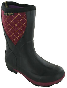 Womens Pull On Wellington Boots Insulated Ortholite Mucking Out boots UK3.5-8.5