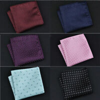 Wedding Pocket Square Dot Business Handkerchief Hanky Suit Satin Mens Formal