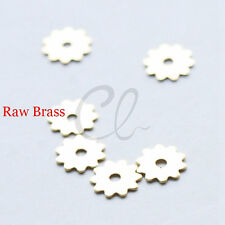 100pcs Raw Brass Wheel Spacer - Gear 7mm (1919C-U-239)