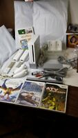 Nintendo Wii White Console RVL-001 Gamecube Compatible Used Tested Work