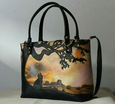 39d0676166 women Hand painted leather bag 'GONE with the WIND' handmade Italian ...