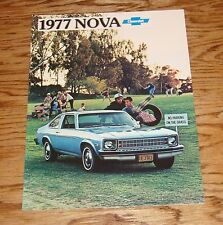 Original 1977 Chevrolet Nova Sales Brochure 77 Chevy