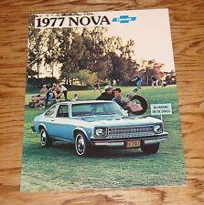 Original 1977 Chevrolet Nova Sales Brochure 77 Chevy