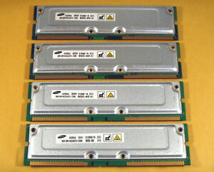 Dell Dimension 8200 2GB 4x512MB PC800 40NS 400/533MHz RAMBUS Mem Samsung TESTED