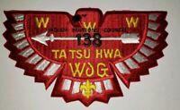 Boy Scout OA Lodge 138 Ta Tsu Hwa Jacket Patch J3