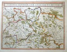 SACHSEN SAXONIA SUPERIOR CUM LUSATIA ET MISNIA LAUSITZ SCHLESIEN BÖHMEN 1635