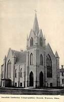 B71/ Warren Minnesota Mn Postcard c1910 Swedish Lutheran Church Building