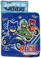 PJ Masks Race Into The Night Nap Mat - Includes Pillow and Fleece Blanket