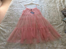BNWT soft pink sheer net dress strappy summer layers boho ballerina NEW LOOK 14