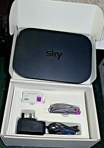 Sky Hub wireless router  with mains adaptor, microfilter + lead