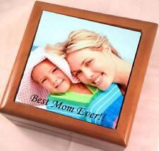 CUSTOM PERSONALIZED PHOTO KEEPSAKE / JEWELRY BOX - GREAT MOTHER'S DAY GIFT