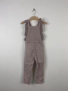 Zara Baby Girl Overalls Purple Ruffles Size 3T 4T