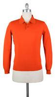 Neu Svevo Parma Orange Wolle Pullover - Polo - M/50 - (1330SPE09X59)
