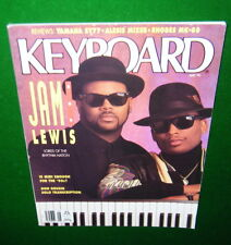 1990 Keyboard Magazine: Jam & Lewis, Yamaha SY77, RHODES MK-80 Alesis 1622 Rev'w