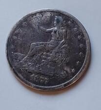 1877-S TRADE DOLLAR - FINE - 420 GRAINS .900 FINE SILVER