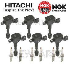 6 Hitachi Ignition Coils & 6 NGK Spark Plugs KIT for Infiniti Nissan Suzuki V6