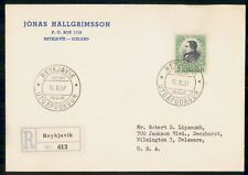 Mayfairstamps Iceland 1957 Jonas Hallgrimmsson Registered first Day Cover wwk833