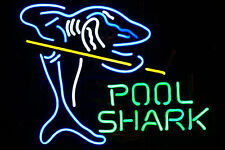 "New Pool Shark Billiards Game Room Neon Light Sign 17""x14"" GA22S Ship from USA"