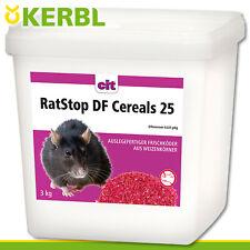 CIT Kerbl 3 kg RatStop DF Cereals 25 Rattengift Rattenköder Mäusegift Giftweizen