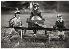 Ansichtskarte: Drei kleine Flugzeug - Piloten - L'Aviateur - The little Aviators