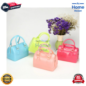 Women Jelly Shoulder Bag Candy Casual Travel Tote Silicone Crossbody Handbag NEW