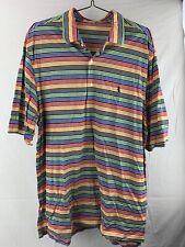 Fairway & Greene Golf Striped Polo Men's Shirt Size XL