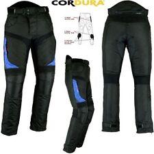 Pantaloni in tessuto blu per motociclista Uomo